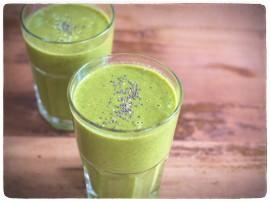 Mein Green Smoothie Spinat Rezept. Vitamine im Winter