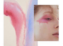 Frühlings Aquarell & Glitzer Make up für das Nasty Magazine